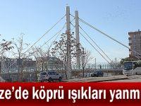 Gebze'de köprü ışıkları yanmıyor!