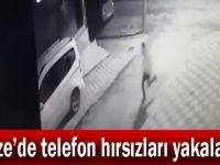 Gebze'de telefon hırsızları yakalandı!