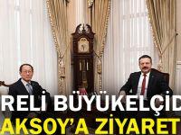 Koreli büyükelçiden Aksoy'a ziyaret