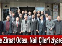 Gebze Ziraat Odası, Nail Çiler'i ziyaret etti