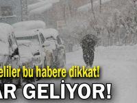 Kocaelililer dikkat! Kar geliyor