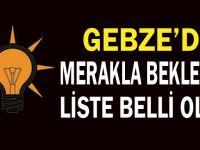 Gebze meclis üyesi listesi açıklandı!