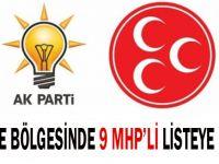 Gebze bölgesinden 9 MHP'li listede yer aldı