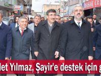 Cevdet Yılmaz, Şayir'e destek için geldi