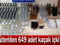 Şarküteriden 649 adet kaçak içki çıktı