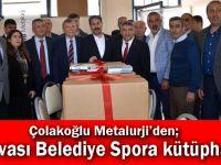 Çolakoğlu Metalurji'den; Dilovası Belediye Spora kütüphane