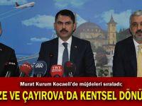 Gebze ve Çayırova'ya kentsel dönüşüm
