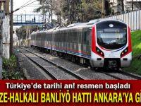 Gebze-Halkalı banliyö hattı Ankara'ya gitti