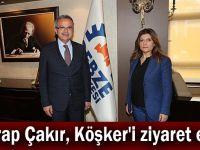 Serap Çakır, Köşker'i ziyaret etti