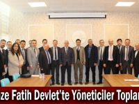Gebze Fatih Devlet'te Yöneticiler Toplantısı