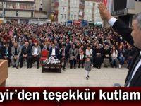 Şayir'den teşekkür kutlaması