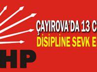 Çayırova'da 13 CHP'li disipline sevk edildi