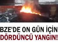 Gebze'de on gün içinde dördüncü yangın!