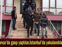 Darıca'da gasp yaptılar,İstanbul'da yakalandılar!