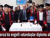 Darıca'da engelli vatandaşlar diploma aldı