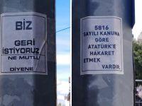"""Kocaeli'de iğrenç afiş... """"Atatürk'e hakaret etmek..."""""""