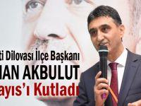 Başkan Akbulut'tan 1 Mayıs kutlaması