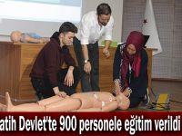Fatih Devlet'te 900 personele eğitim verildi