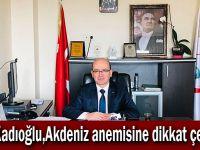 Kadıoğlu,Akdeniz anemisine dikkat çekti