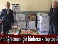 Şehit öğretmen için binlerce kitap toplandı