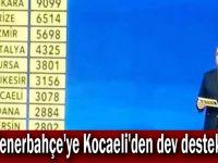 Fenerbahçe'ye Kocaeli'den dev destek!