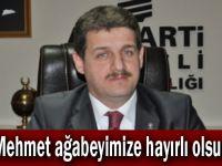 """Civelek,""""Mehmet ağabeyimize hayırlı olsun"""""""