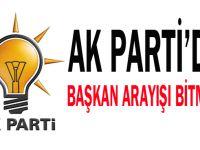 AK Parti'de başkan arayışı bitmedi