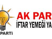 AK Parti iftar yemeği yarın!