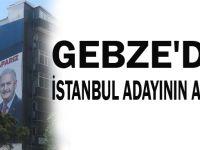 Gebze'de İstanbul adayının afişi!..