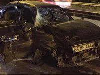 Kocaeli'de Otomobil bariyerlere çarptı: 1 yaralı!