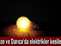 Gebze ve Darıca'da elektrikler kesilecek