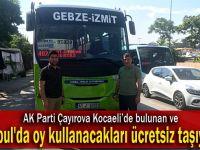 AK Çayırova, İstanbul'da oy kullanacakları ücretsiz taşıyacak