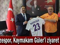 Gebzespor,Kaymakam Güler'i ziyaret etti