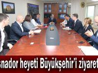 Krasnador heyeti Büyükşehir'i ziyaret etti