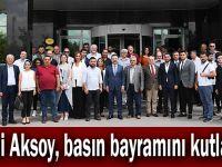 Vali Aksoy, basın bayramını kutladı