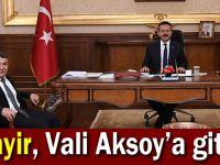 Şayir, Vali Aksoy'a gitti!