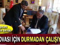 Başkan Şayir, Ankara'da çalmadık kapı bırakmadı!