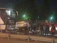 Otobüse çarpan otomobil takla attı… 20 yaşındaki genç kız yaşamını yitirdi!
