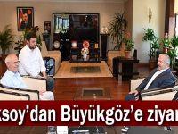 Aksoy^dan Büyükgöz'e ziyaret