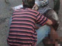 Kamyonun altında kalan adamın ayağı koptu!