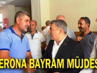 Başkan Şayir'den Taşerona bayram müjdesi