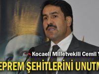 Kocaeli Milletvekili Cemil Yaman'dan 17 Ağustos Mesajı
