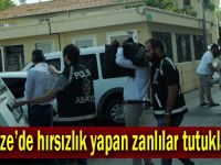 Gebze'de hırsızlık yapan zanlılar yakalandı!