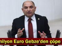 47 milyon Euro Gebze'den çöpe gitti