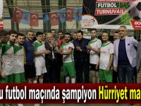 Kuyucu Futbol maçında şampiyon, Hürriyet mahallesi!
