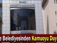 Gebze Belediyesinden Kamuoyu Duyurusu