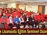 GTÜ'de Lisansüstü Eğitim Semineri Düzenlendi