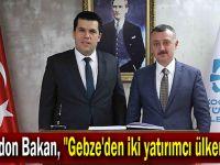 """Makedon Bakan, """"Gebze'den iki yatırımcı ülkemizde"""""""