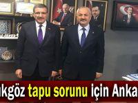Büyükgöz tapu sorunu için Ankara'da