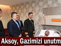 Vali Aksoy ve komutanlardan Gazi Ural'a moral ziyareti